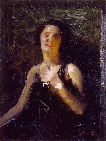 """Giuseppe Palanti, """"Studio per ritratto femminile"""""""