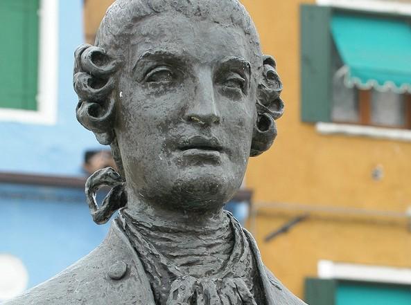 Il busto di Baldassare Galuppi a Burano