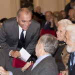 13 - Edoardo Romagnoli, nipote di Palanti (in piedi) con Cesare Rimini e signora, Italo Lupi e signora