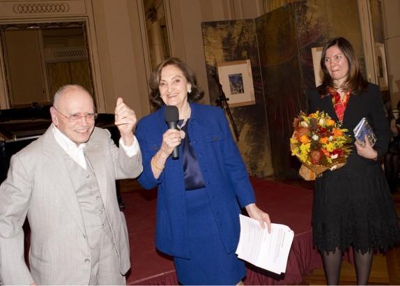 06 - Sylvano Bussotti durante la nomina a socio onorario