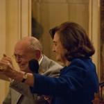 07 - Sylvano Bussotti e Anna Crespi durante la nomina a socio onorario