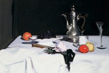 Still Life with Coffee Pot, c.1905 (oil on canvas) by Peploe, Samuel John (1871-1935)