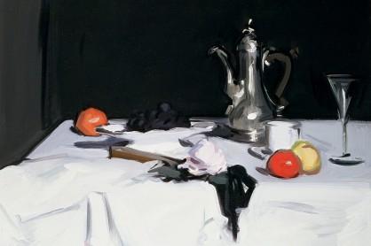 Still Life with Coffee Pot, c.1905 (oil on canvas) by Peploe, Samuel John (1871-1935)
