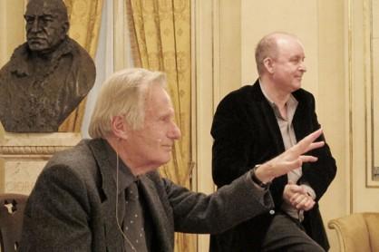 Cesare Mazzonis e il compositore russo Alexander Raskatov (foto Castelli)