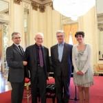 La commissione e la vincitrice (Da sin. Antonio Rostagno, Philip Gossett, Dinko Fabris, Liana Püschel)
