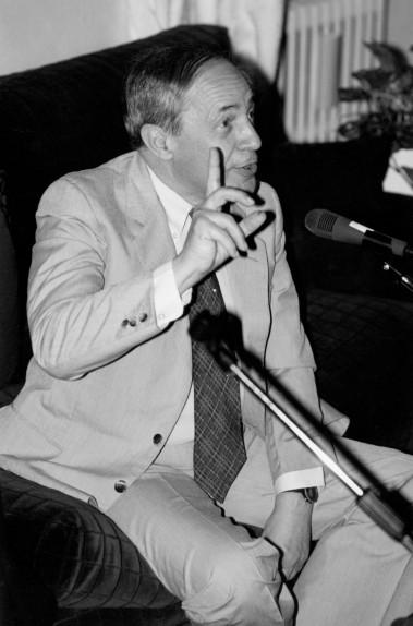 Pierre Boulez agli Amici della Scala nel 1990 - Foto di Carla De Bernardi