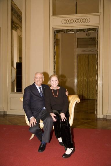 Giulia Lazzarini e Ferruccio Soleri nominati Soci Onorari degli Amici della Scala nel marzo 2009 - Foto di Carla De Bernardi