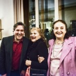 Il Maestro Pappano, la soprano Adriana Maliponte e Anna Crespi ©Francesco Maria Colombo