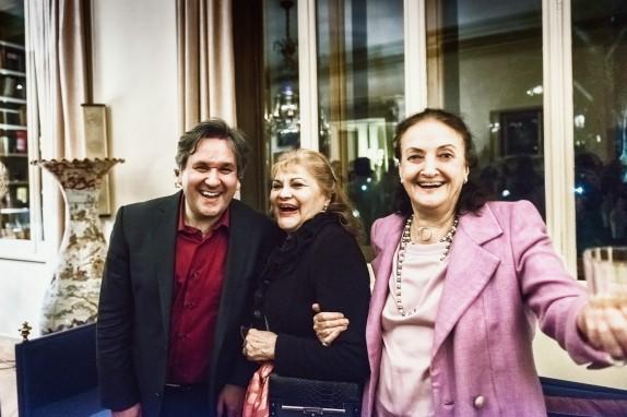 Il Maestro Pappano, il soprano Adriana Maliponte e Anna Crespi ©Francesco Maria Colombo