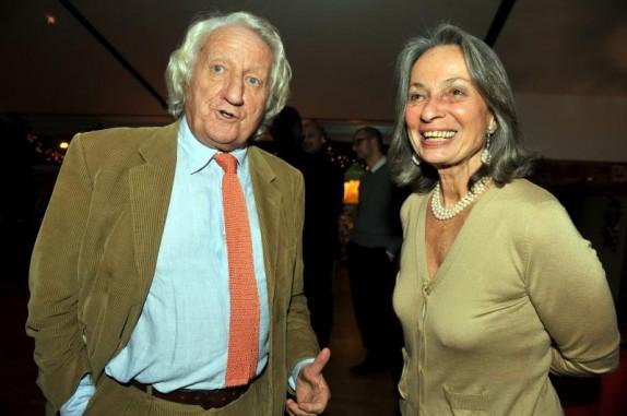 Giorgio Forattini con la moglie Ilaria