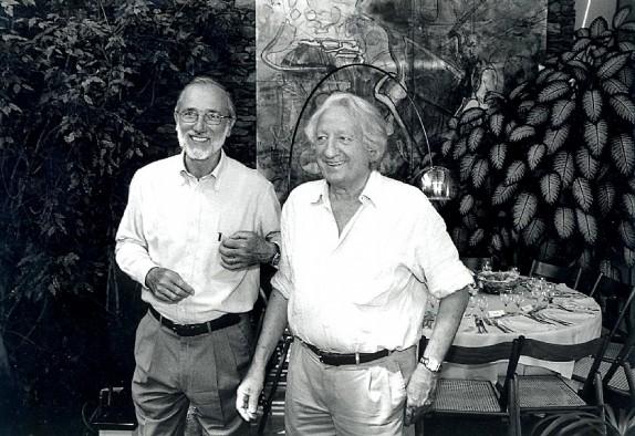 Giorgio Forattini e Renzo Piano