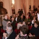Al microfono Giulia Lazzarini (foto Gerry Pizzocari)