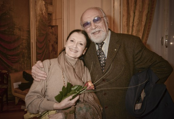 Carla Fracci con Renato Bruson (foto Gerry Pizzocari)
