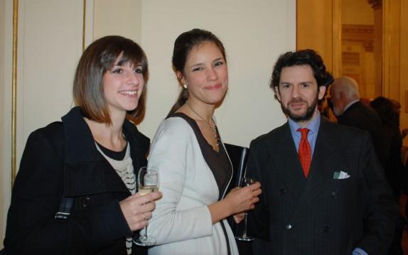 Francesca Ferrario, Aglaia Strada e Francesco Maria Colombo (foto Carla De Bernardi)