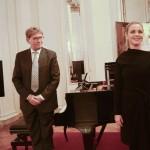 Il pianista James Vaughan con la soprano Elena Monti (foto Gerry Pizzocari)