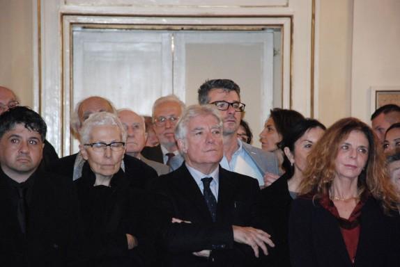 Matteo Collura, al centro, tra il publico (foto Carla De Bernardi)