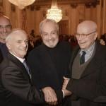 Roberto Masotti, Ferruccio Soleri, Ezio Frigerio e Beppe Menegatti (foto Gerry Pizzocari)