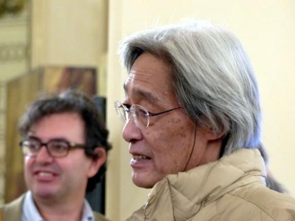 Takashi Shimura e Alberto Saibene (foto Matilde Garelli)