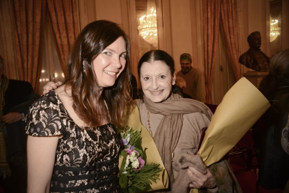 Vittoria Crespi Morbio e Carla Fracci (foto Gerry Pizzocari)