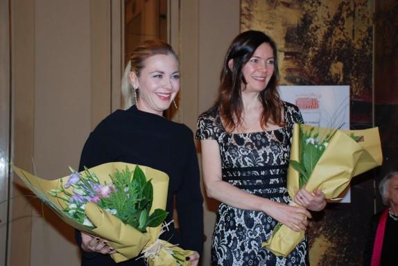 la soprano Elena Monti con Vittoria Crespi Morbio (foto Carla De Bernardi)