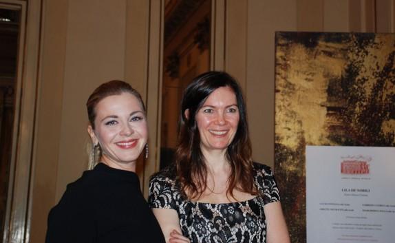 la soprano Elena Monti e Vittoria Crespi Morbio (foto Carla De Bernardi)
