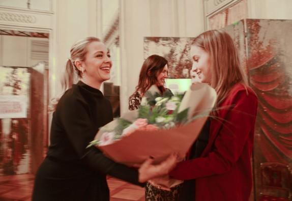 la soprano Elena Monti e Vittoria Crespi Morbio (foto Gerry Pizzocari)